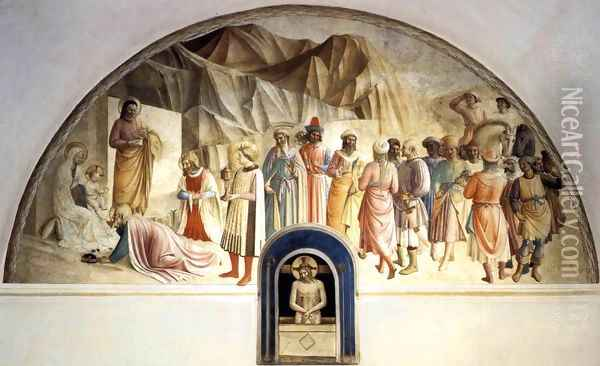 Adoration of the Kings Oil Painting - Fra Angelico (Guido di Pietro)