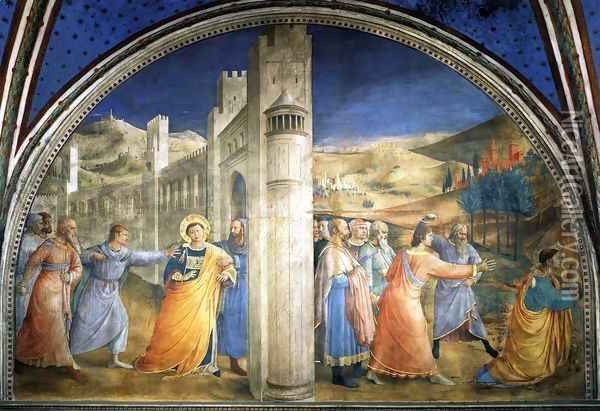 Lunette of the east wall Oil Painting - Fra Angelico (Guido di Pietro)
