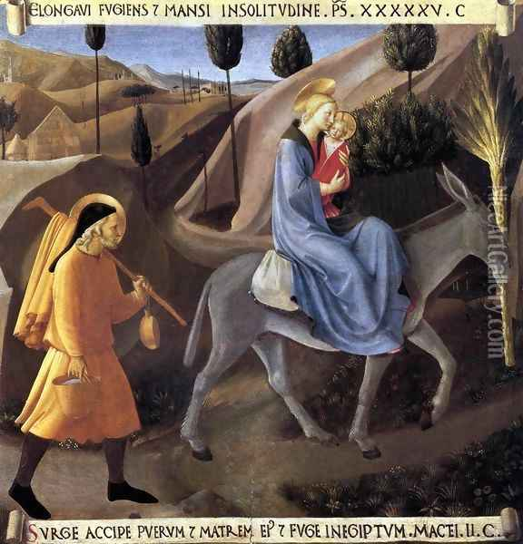 Flight into Egypt Oil Painting - Fra Angelico (Guido di Pietro)