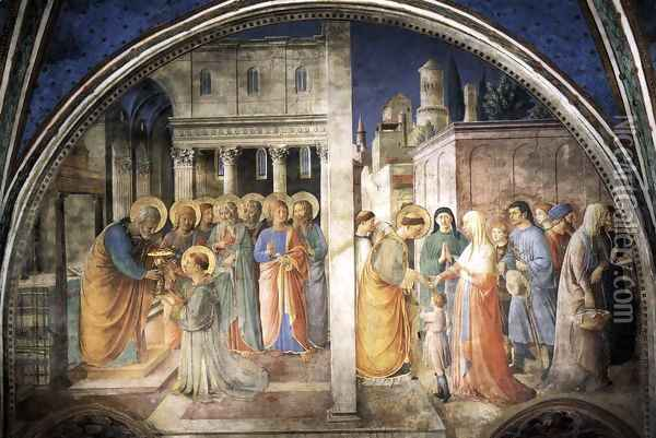 Lunette of the west wall Oil Painting - Fra Angelico (Guido di Pietro)