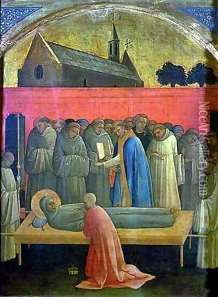 The Death of St Francis Oil Painting - Fra Angelico (Guido di Pietro)
