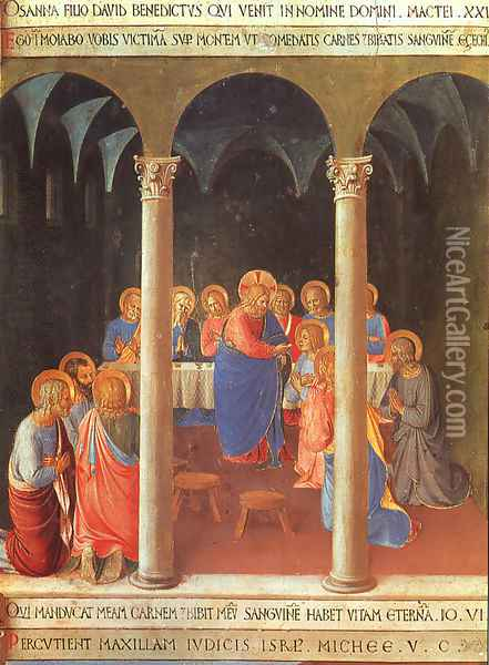 Communion of the Apostles Oil Painting - Fra Angelico (Guido di Pietro)