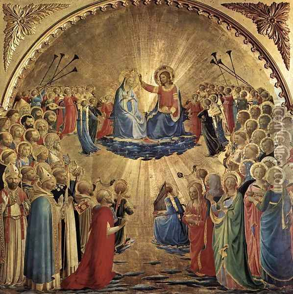 The Coronation of the Virgin 4 Oil Painting - Fra Angelico (Guido di Pietro)