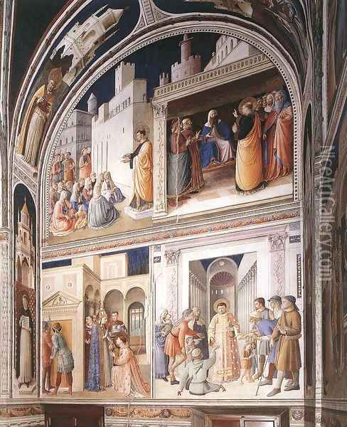 Scenes from the Lives of Sts Lawrence and Stephen Oil Painting - Fra Angelico (Guido di Pietro)