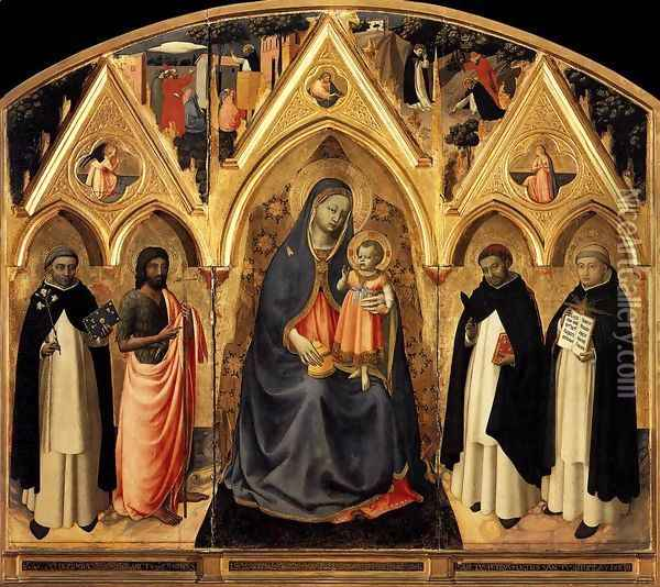 St Peter Martyr Altarpiece Oil Painting - Fra Angelico (Guido di Pietro)