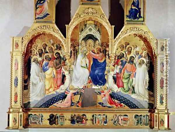 The Coronation of the Virgin Oil Painting - Fra Angelico (Guido di Pietro)
