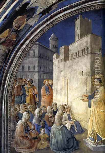 The Sermon of St Stephen Oil Painting - Fra Angelico (Guido di Pietro)