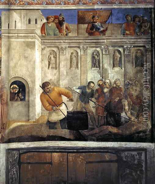 Martyrdom of St Lawrence Oil Painting - Fra Angelico (Guido di Pietro)