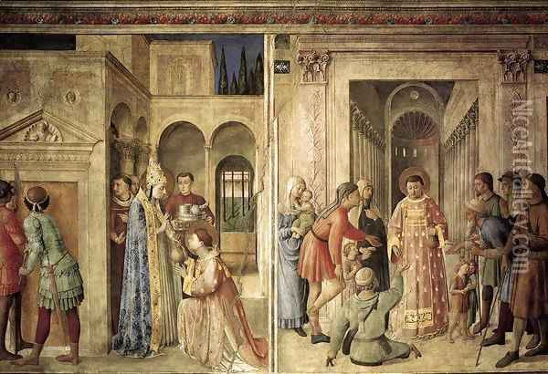 Scenes on the north wall Oil Painting - Fra Angelico (Guido di Pietro)