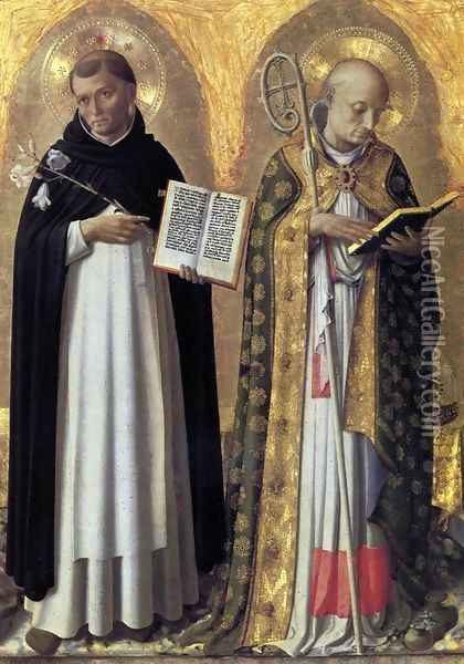Perugia Altarpiece (left panel) Oil Painting - Fra Angelico (Guido di Pietro)