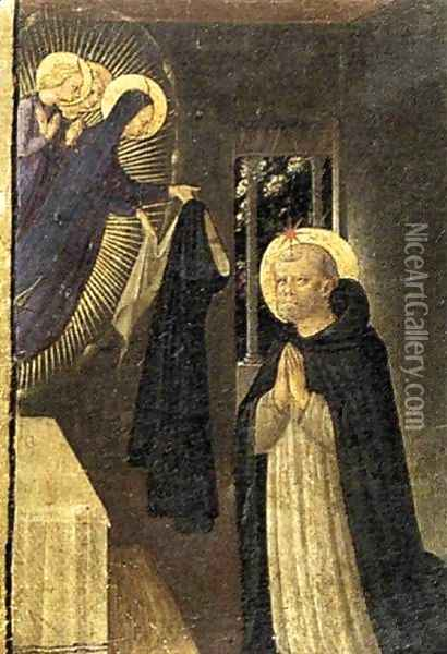 The Virgin Consigns the Habit to St Dominic Oil Painting - Fra Angelico (Guido di Pietro)