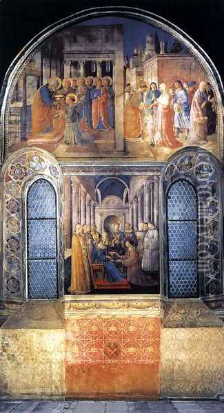 West wall of the chapel Oil Painting - Fra Angelico (Guido di Pietro)
