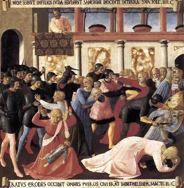 Massacre of the Innocents Oil Painting - Fra Angelico (Guido di Pietro)