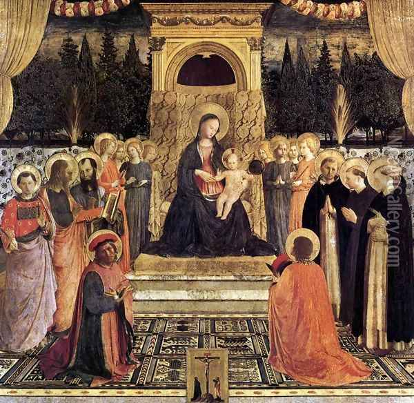 San Marco Altarpiece Oil Painting - Fra Angelico (Guido di Pietro)