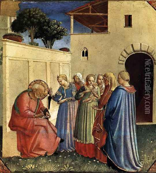 The Naming of St John the Baptist Oil Painting - Fra Angelico (Guido di Pietro)