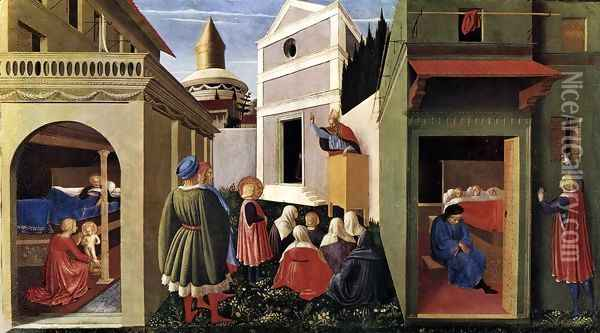 The Story of St Nicholas Oil Painting - Fra Angelico (Guido di Pietro)