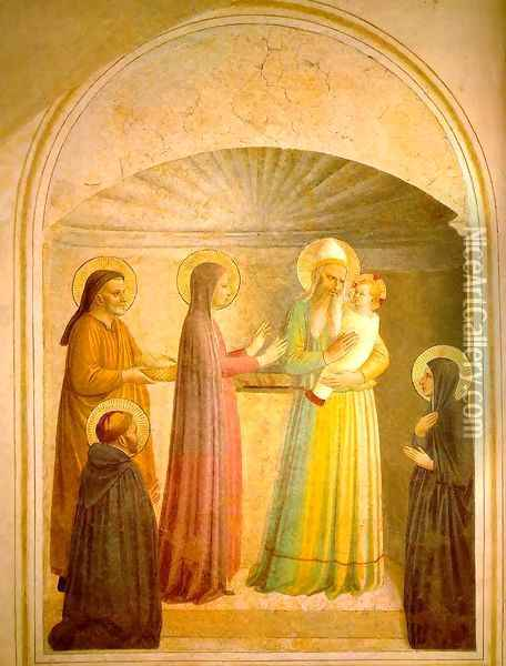 Presentation of Jesus in the Temple Oil Painting - Fra Angelico (Guido di Pietro)