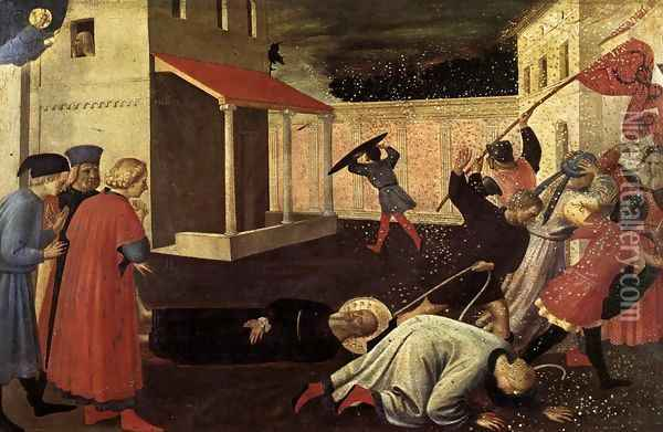 The Martyrdom of St Mark Oil Painting - Fra Angelico (Guido di Pietro)