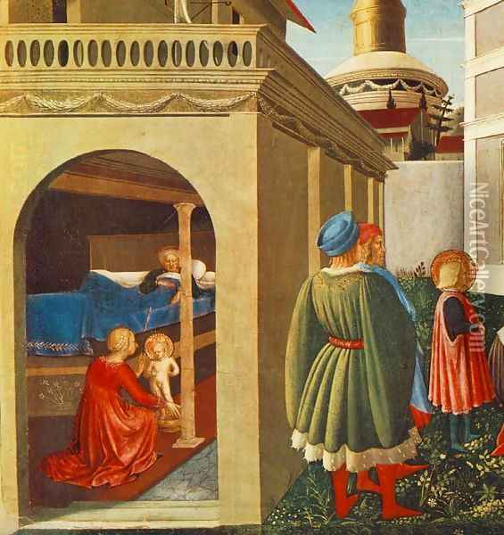 Story of St Nicholas Birth of St Nicholas Oil Painting - Fra Angelico (Guido di Pietro)