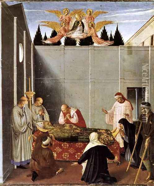 The Story of St Nicholas The Death of the Saint Oil Painting - Fra Angelico (Guido di Pietro)