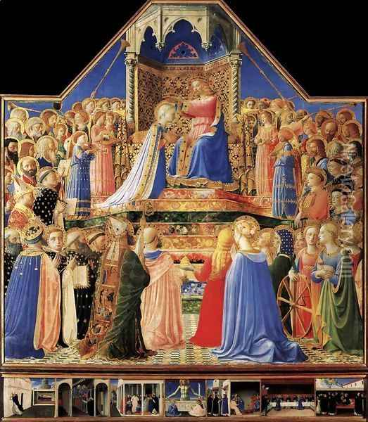 Coronation of the Virgin 1434-35 Oil Painting - Fra Angelico (Guido di Pietro)