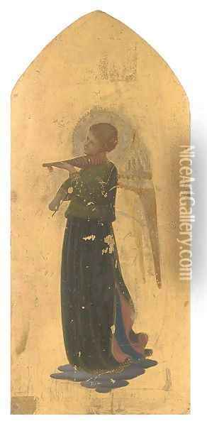 An angel playing a violin Oil Painting - Fra Angelico (Guido di Pietro)