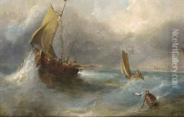 Off the Isle of Wight Oil Painting - George Armfield