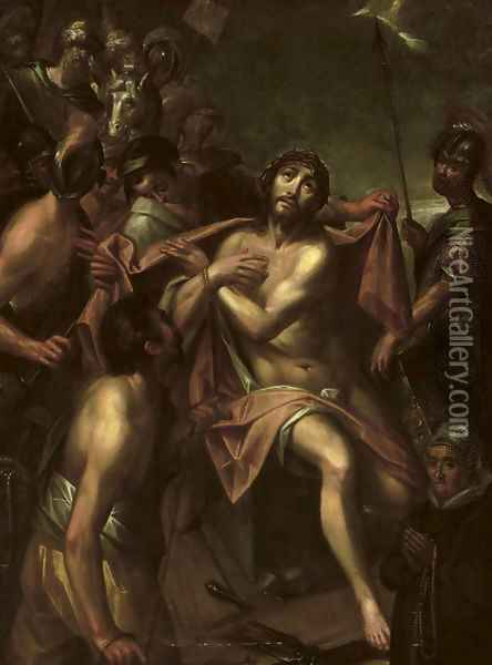 Christ being stripped of his garments Oil Painting - Hans Von Aachen