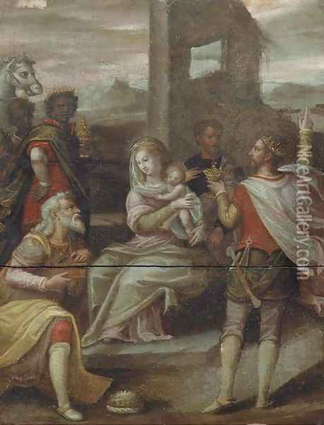 The Adoration of the Magi Oil Painting - Hans Von Aachen