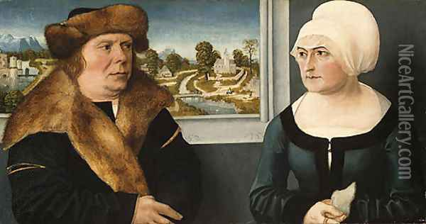 Portrait of a Man and His Wife 1512 Oil Painting - Ulrich the Elder Apt