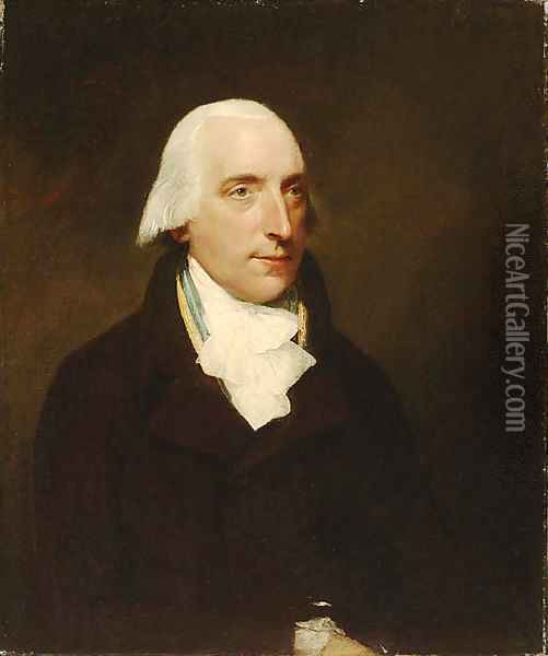 Portrait of a Gentleman, said to be Mr. Osgood Gee (1744-1823) Oil Painting - Lemuel-Francis Abbott