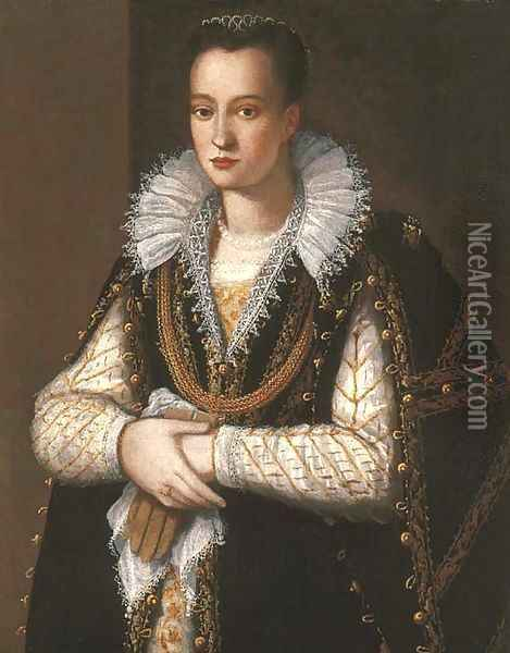 Portrait of a noblewoman Oil Painting - Alessandro Allori