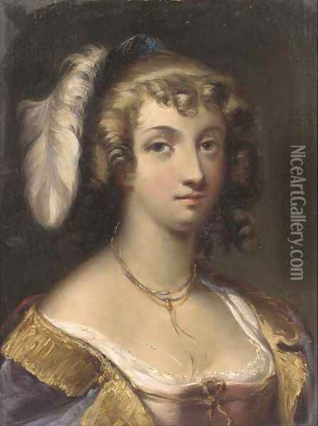 A young beauty Oil Painting - Henry Andrews