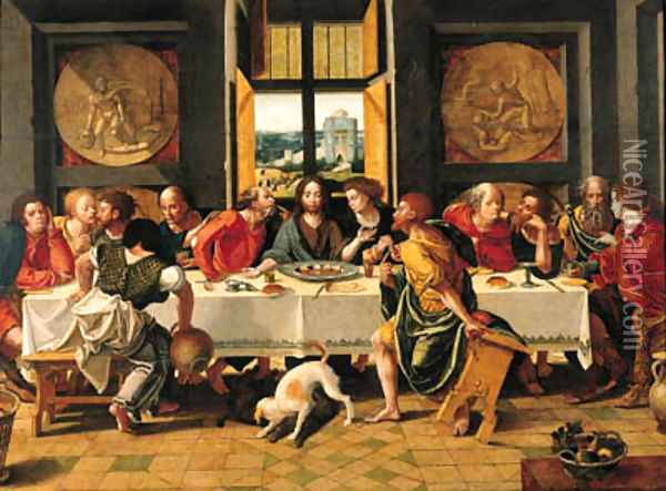 The Last Supper 3 Oil Painting - Pieter Coecke Van Aelst