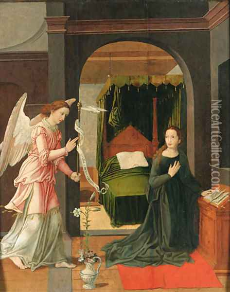 The Annunciation Oil Painting - Pieter Coecke Van Aelst