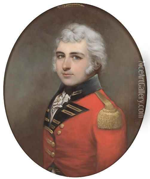 Portrait of Lt. Colonel F. F. Mannooch (1764-1809) Oil Painting - Francis Alleyne