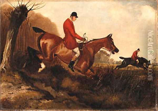 A Set of Six Hunting Scenes Oil Painting - Herny Jr Alken