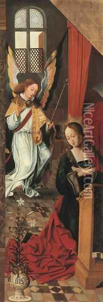 The Annunciation a wing from an altarpiece Oil Painting - School Of Antwerp