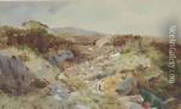 Landscape At Inverness Oil Painting - Archibald Thorburn
