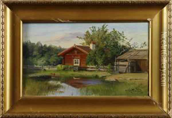 Knipphammarennerike Oil Painting - Alfred Thorne