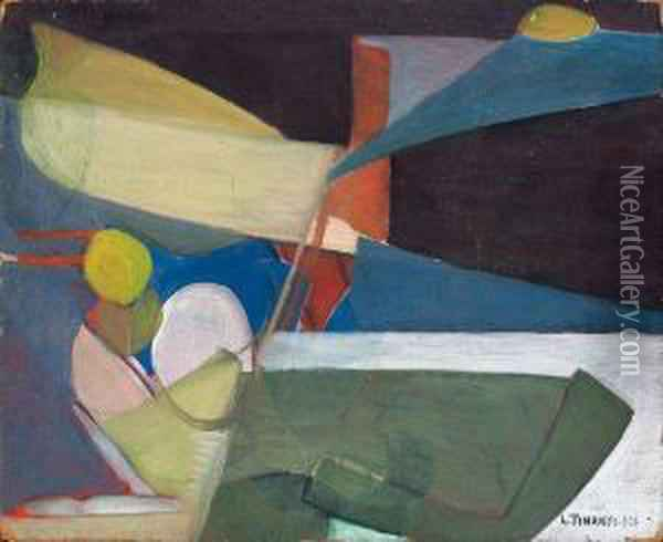 Abstraction Oil Painting - Lajos Tihanyi