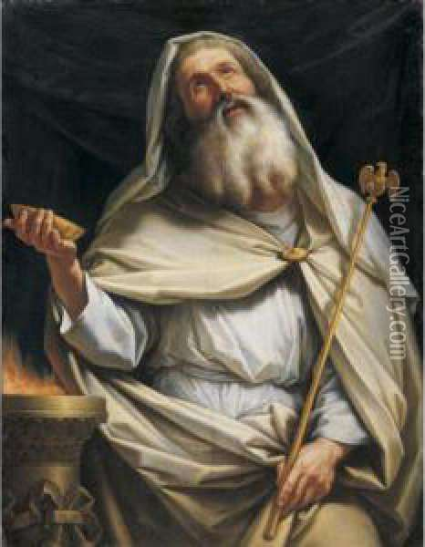 Priest Of Zeus At The Temple Oil Painting - Stefano Tofanelli