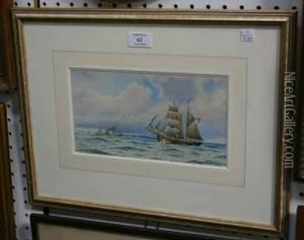 Seascape With Sailing And Steam Ships Oil Painting - William Stephen Tomkin