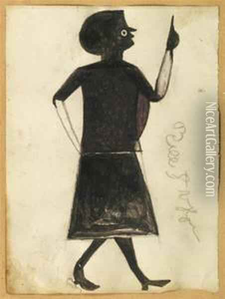 Femme Oil Painting - Bill Traylor