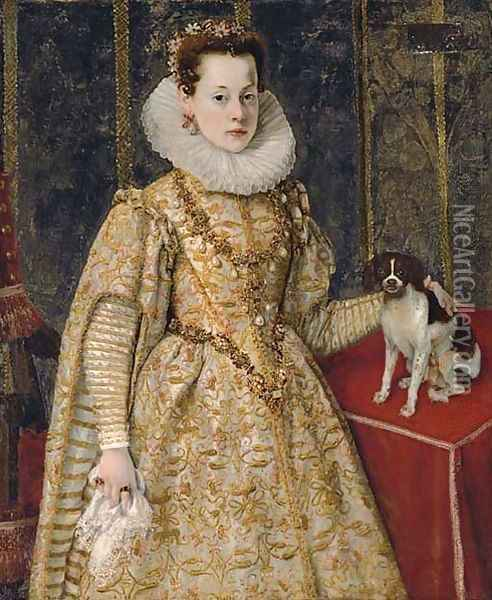 Portrait of Margherita of Savoy (1589-1655) Oil Painting - Sofonisba Anguissola