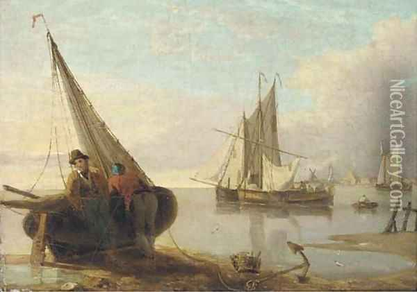 Waiting for the tide Oil Painting - William Anderson