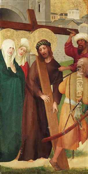 Christ on the Road to Calvary Oil Painting - The Master Of The Heisterbach Altar