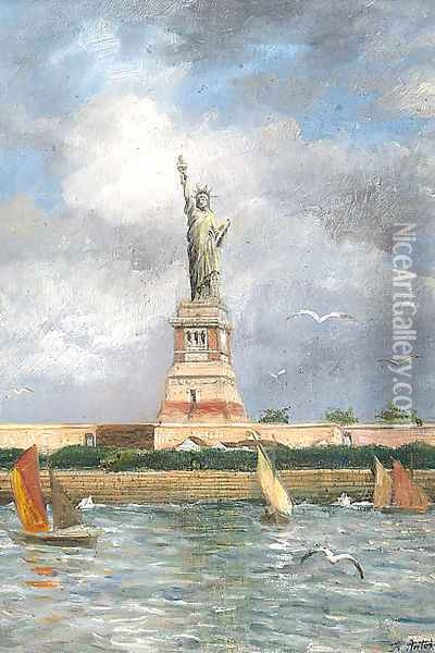 The Statue Of Liberty Oil Painting - Franz Antoine