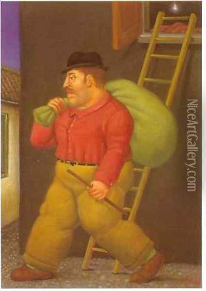 A Thief 1994 2 Oil Painting - Fernando Botero