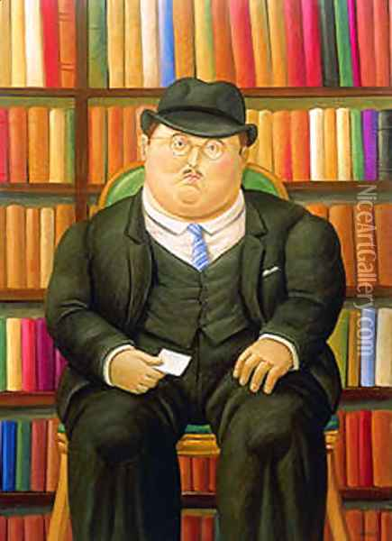 The Notary Oil Painting - Fernando Botero